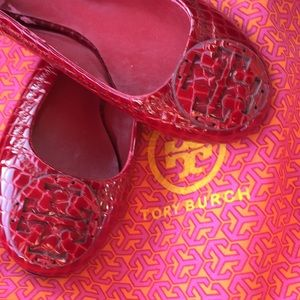 Tory Burch NEW reva embossed valley flats shoes